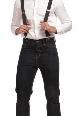 Jean vintage taille haute pour homme
