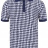 Polo rockabilly homme bleu