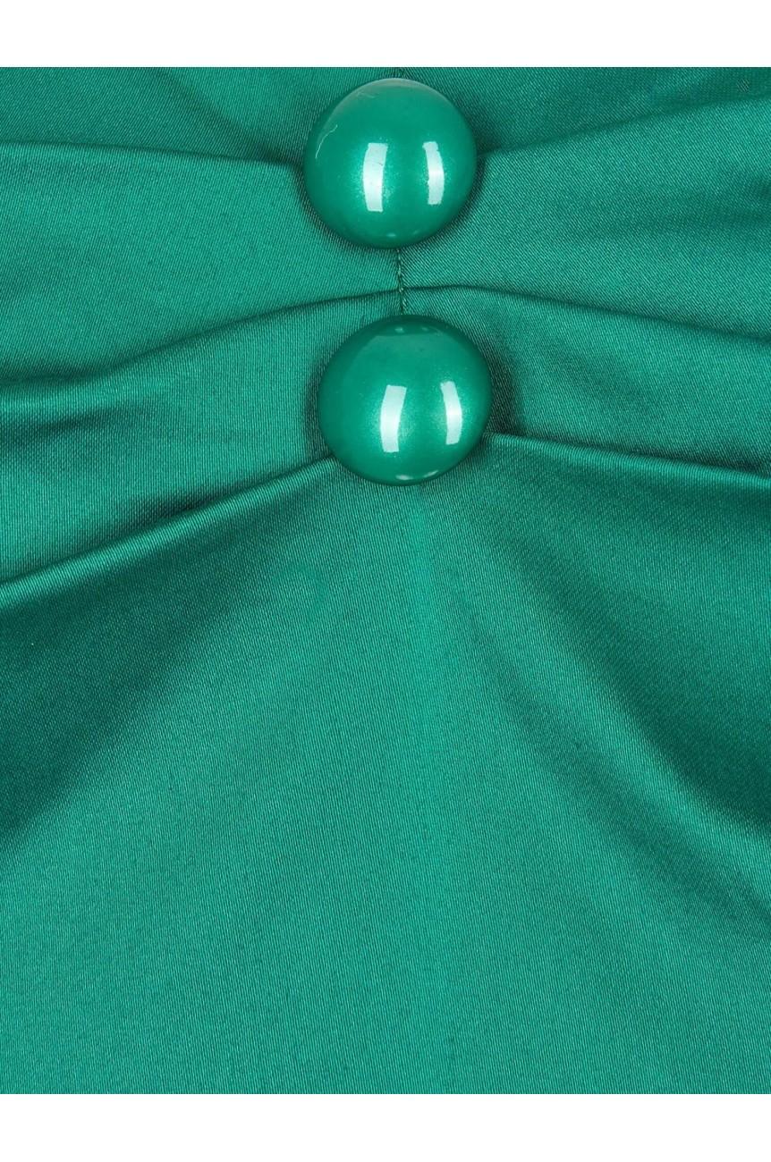 Haut vintage pin-up vert