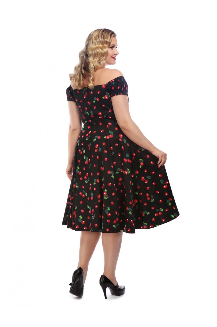 Robe pin-up cerises grande taille