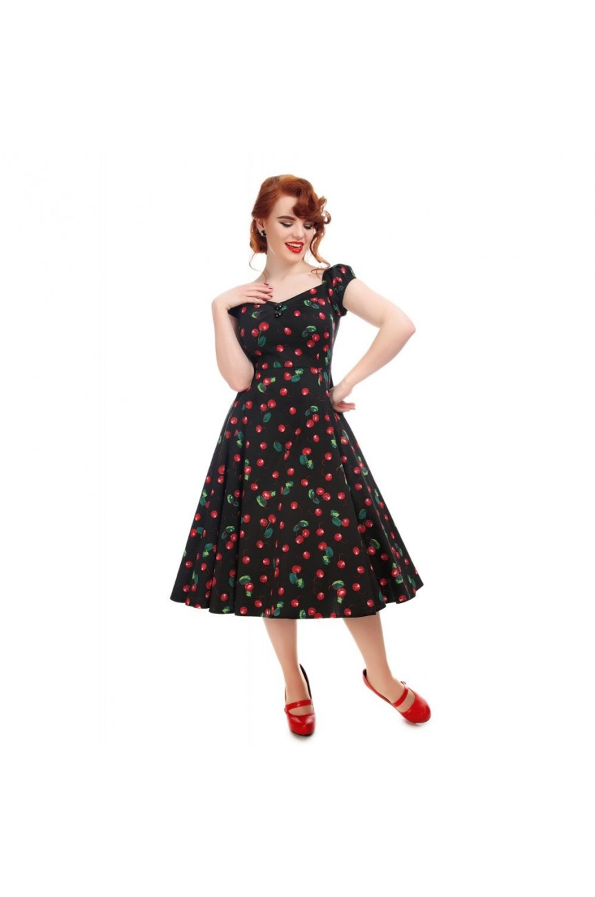 Robe pin-up cerises vintage