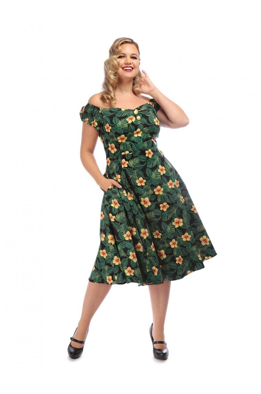 Robe vintage tropicale