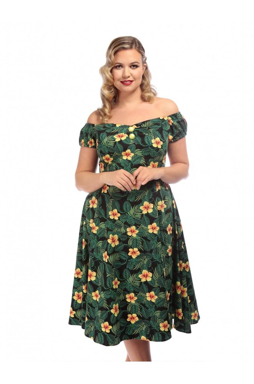 Robe fifties tropicale