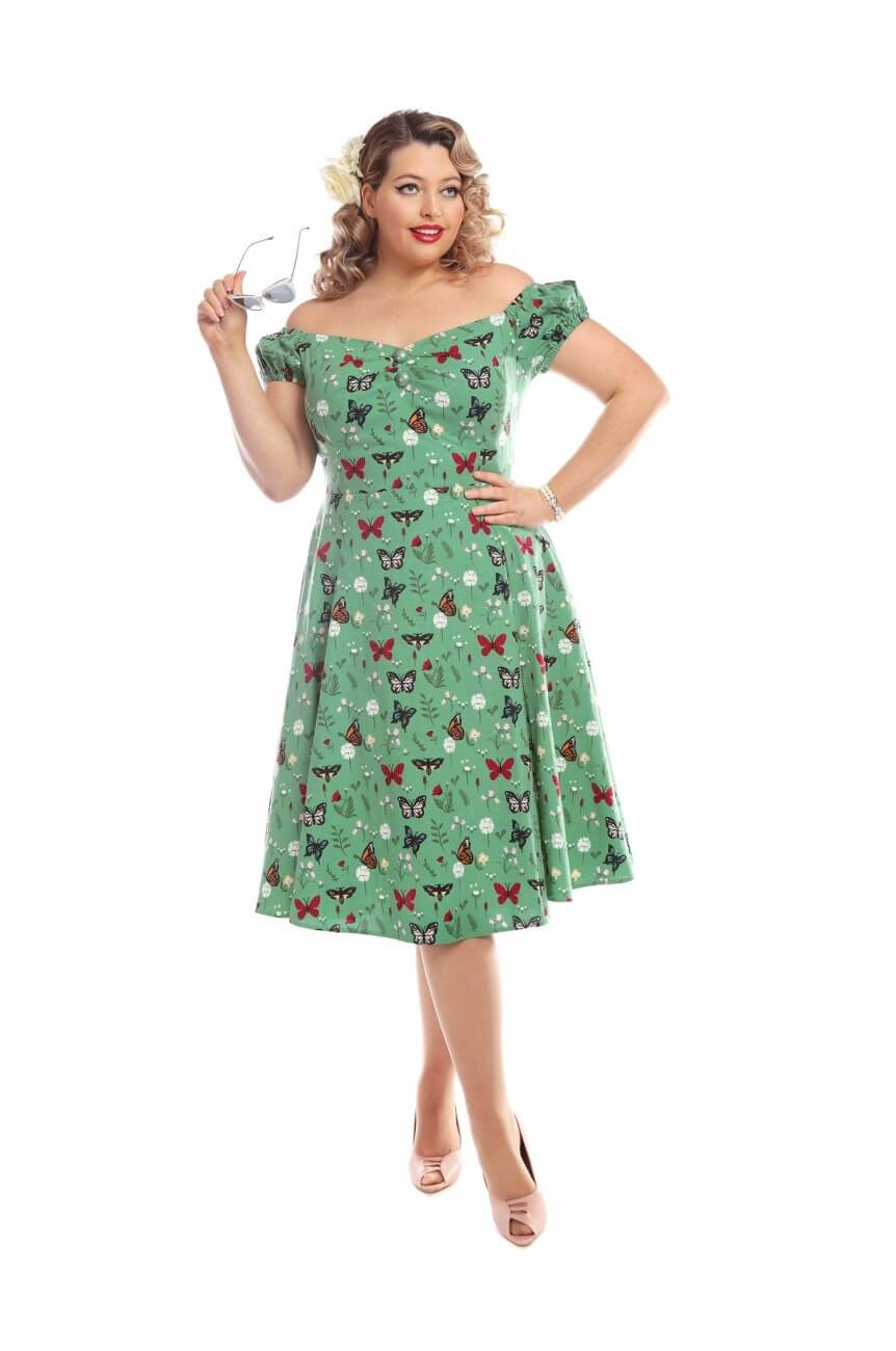 Robe papillons retro pin-up grande taille