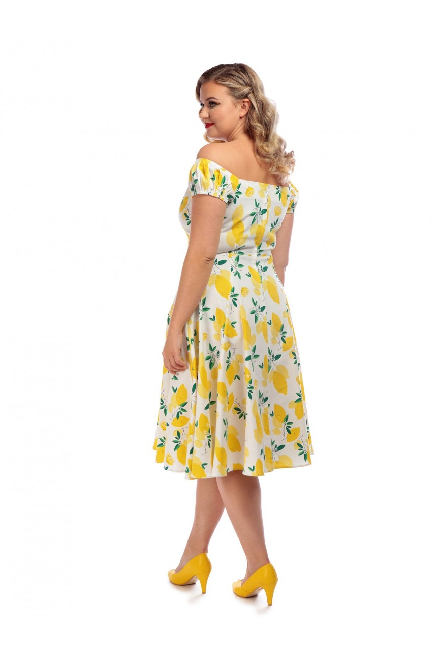 Robe Colleceti vintage imprimé citron