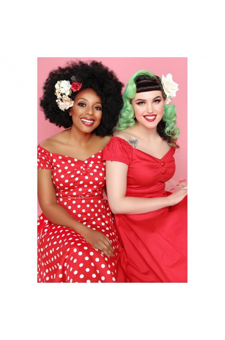 Robe pin-up rouge grande taille