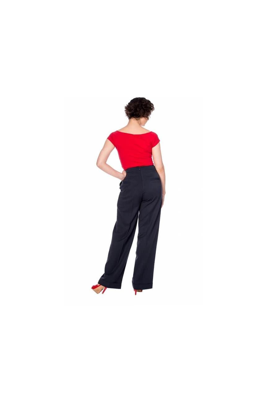 Pantalon à pont noir Banned