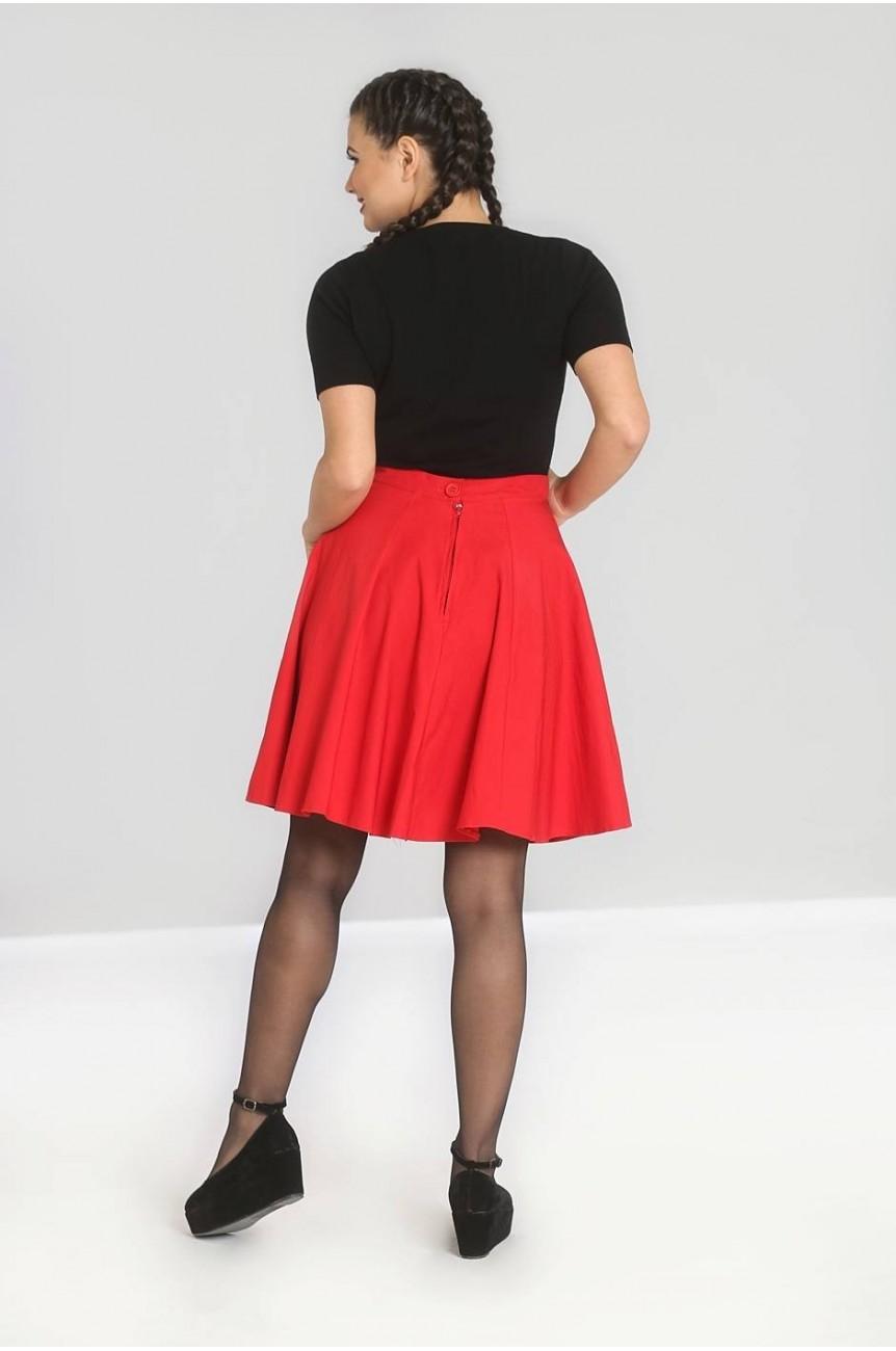 Jupe cercle courte rouge