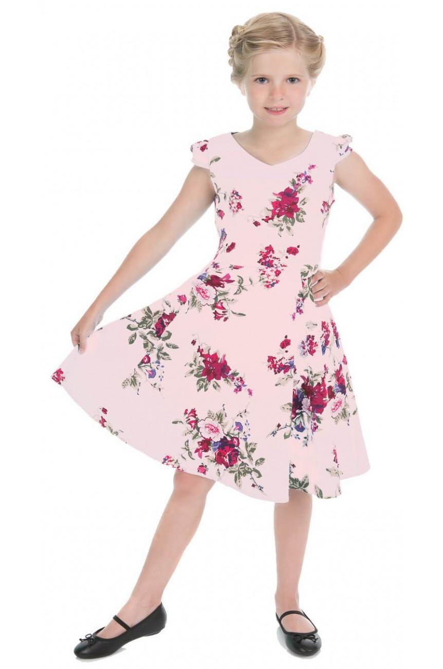 Robe vintage enfant rose
