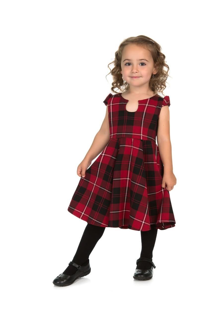 Robe tartan enfant style rétro