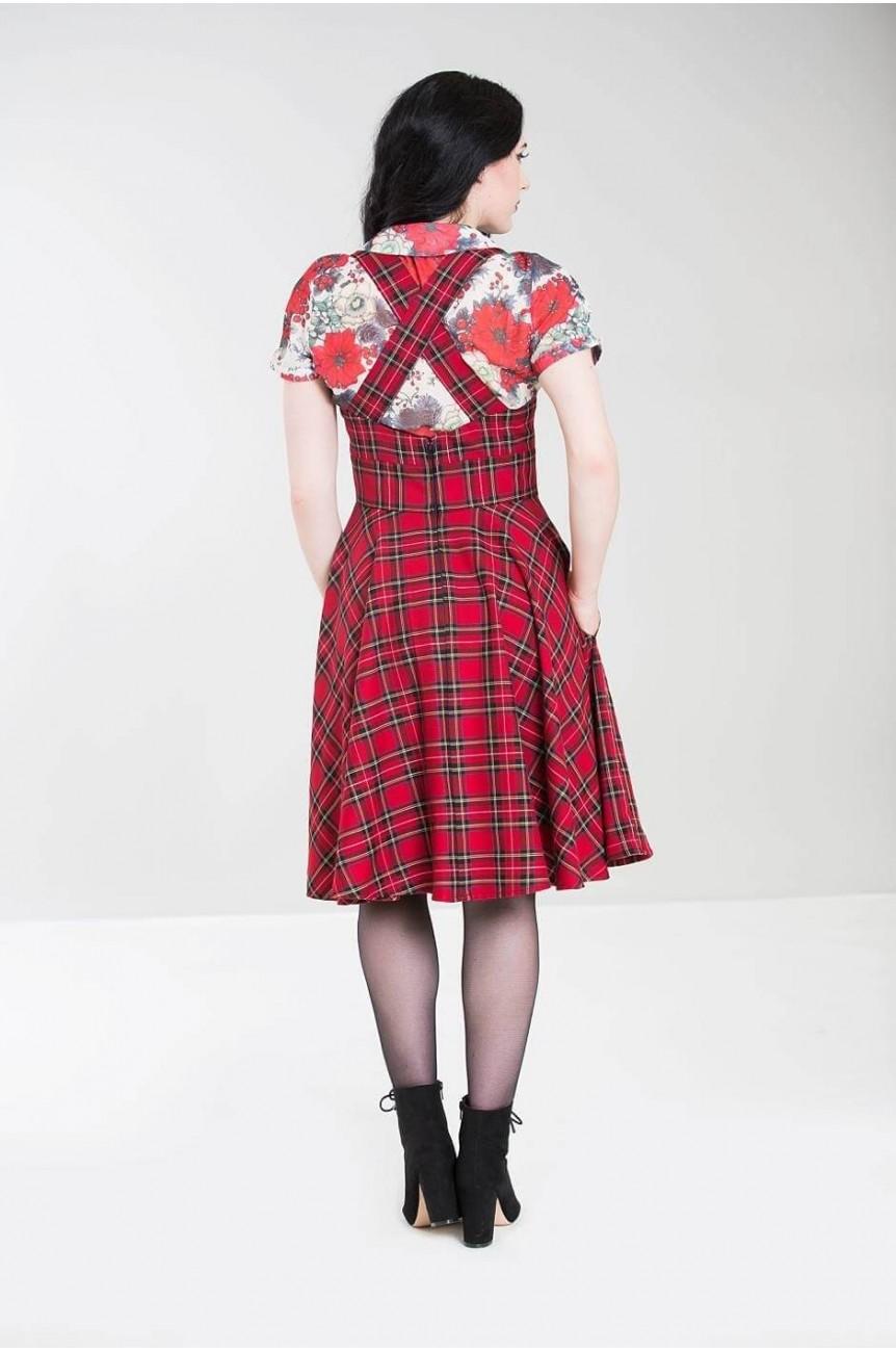 Robe écossais rouge