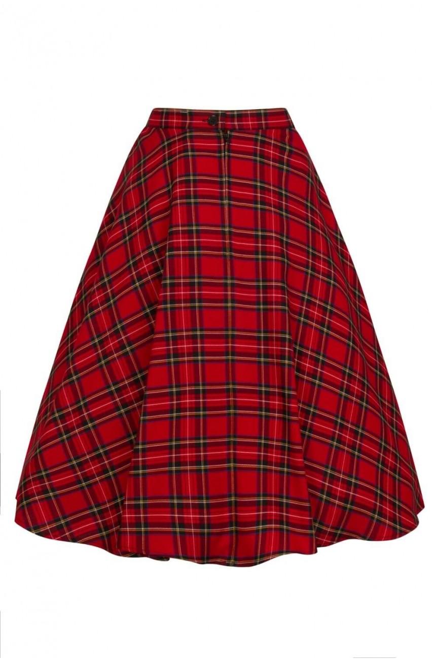 Jupe écossais rouge