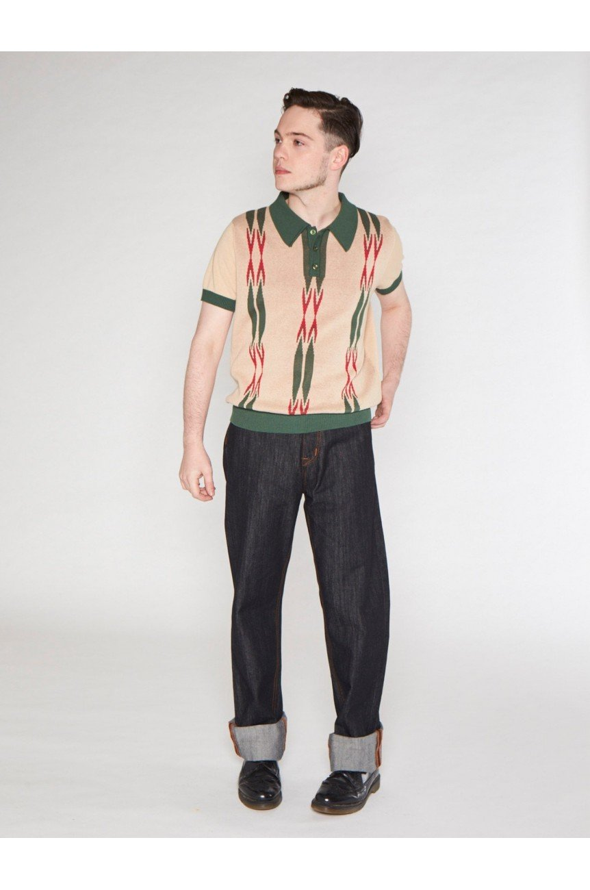 Polo vintage homme rockabilly