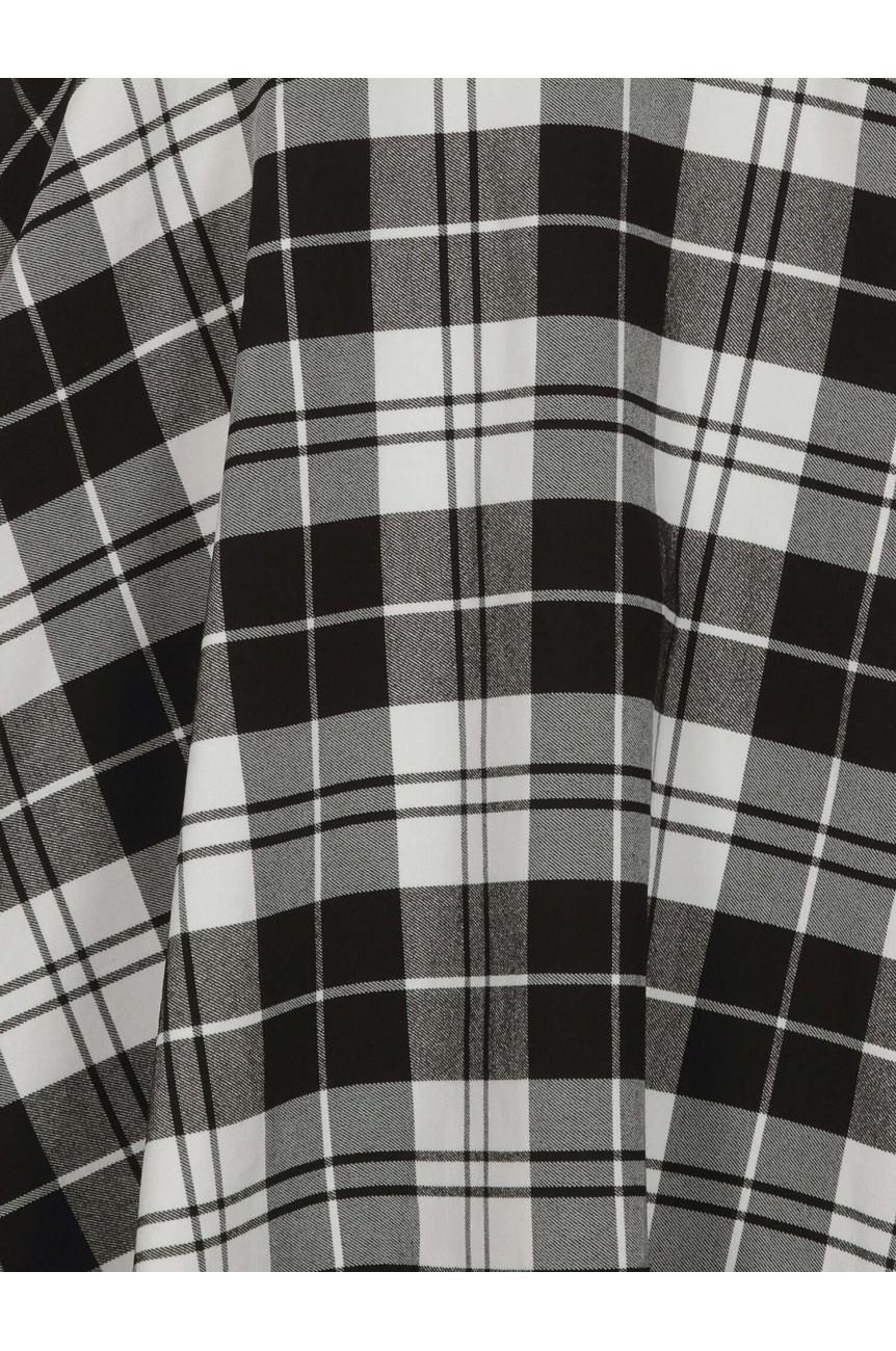 Jupe salopette écossais noir et blanc