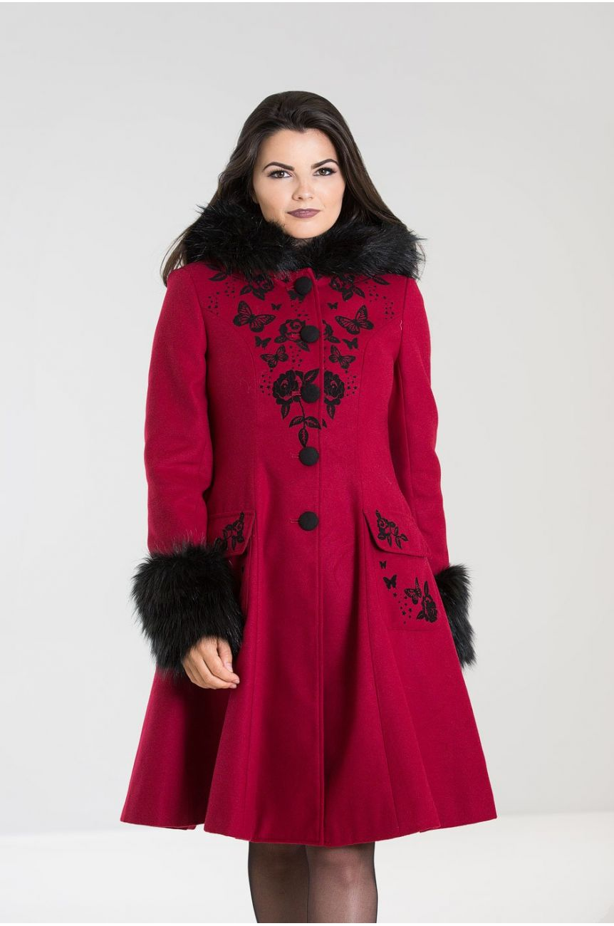 Manteau hell bunny rouge