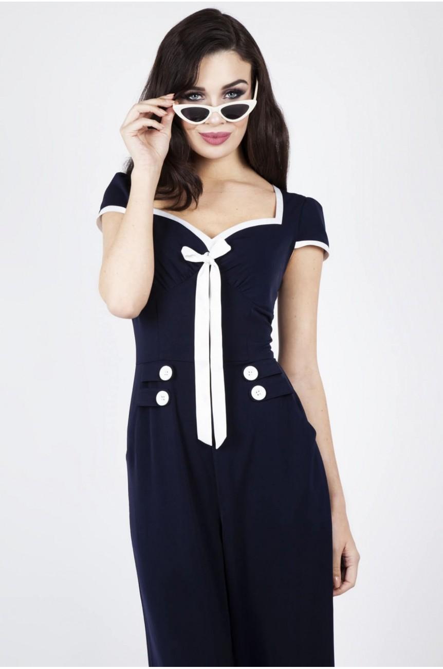 Combinaison sailor vintage bleue