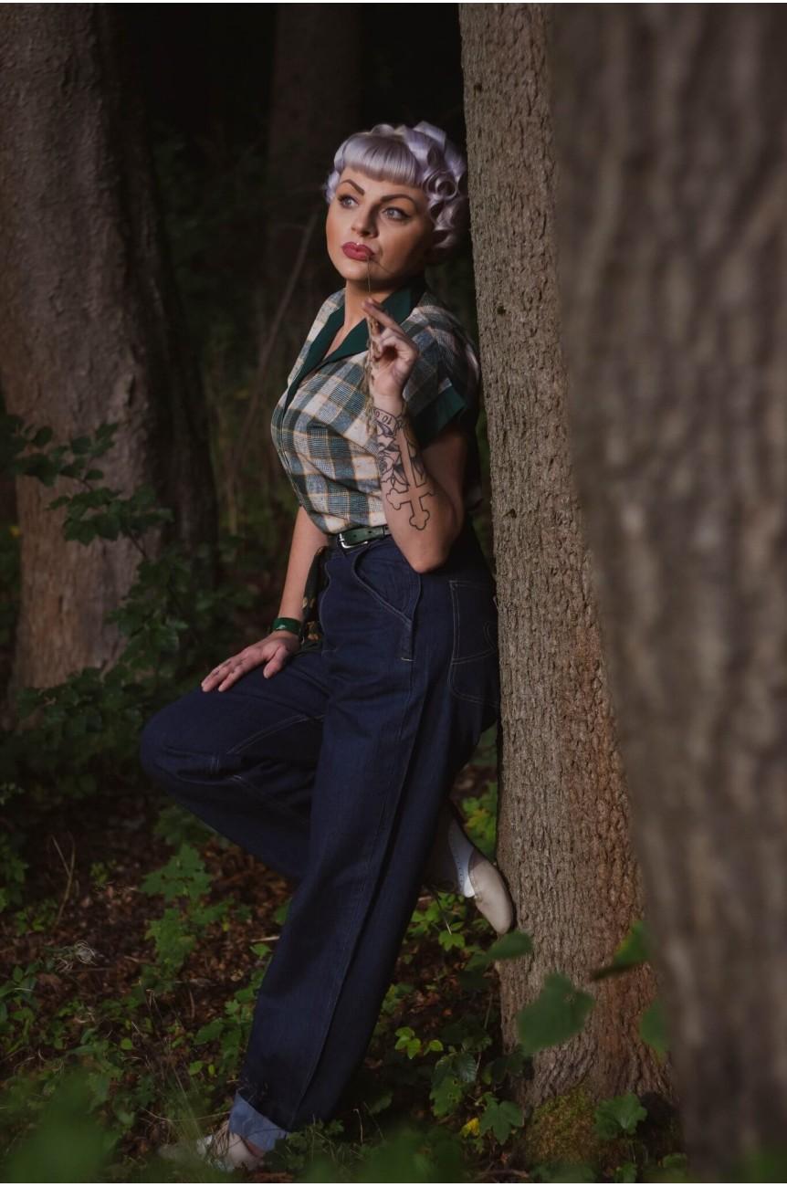 Chemise femme rockabilly tartan