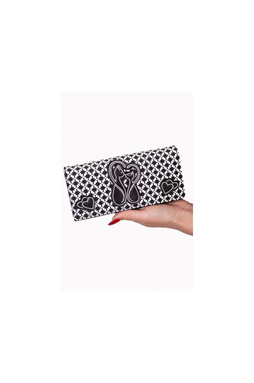 Portefeuille chat noir et blanc