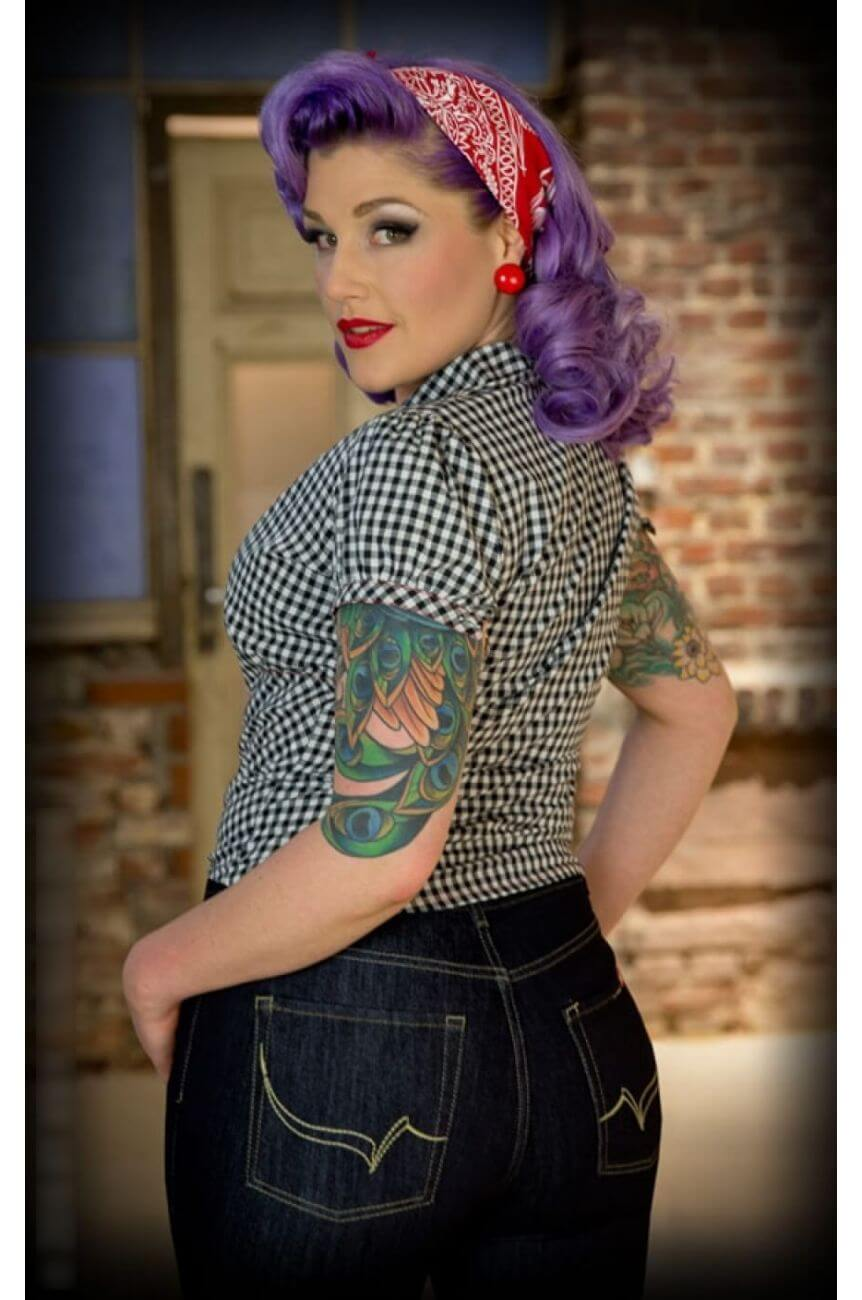 Blouse vichy rumble59 rockabilly