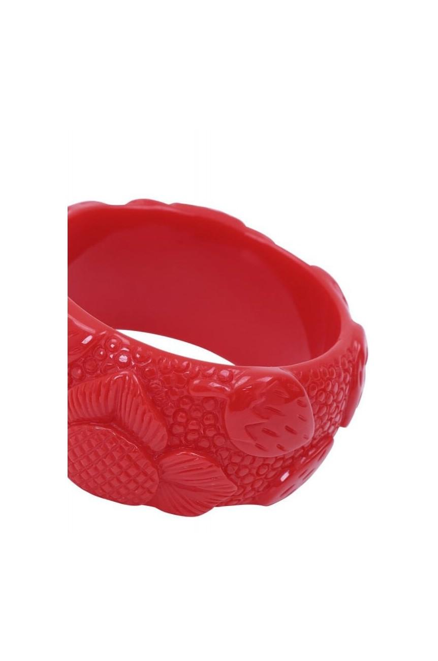 Bracelet fraise rétro pin-up