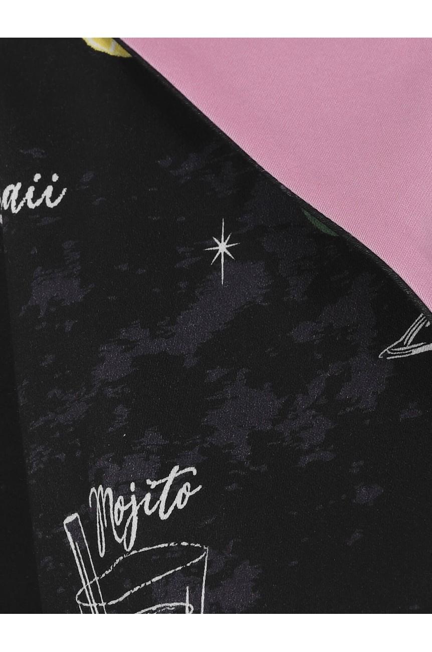 Bolero vintage noir motif cocktail