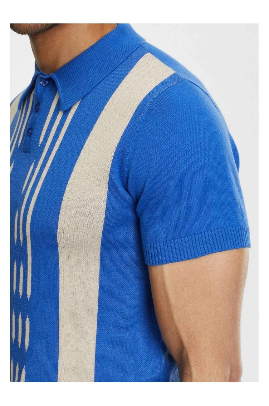 Polo bleu clair homme