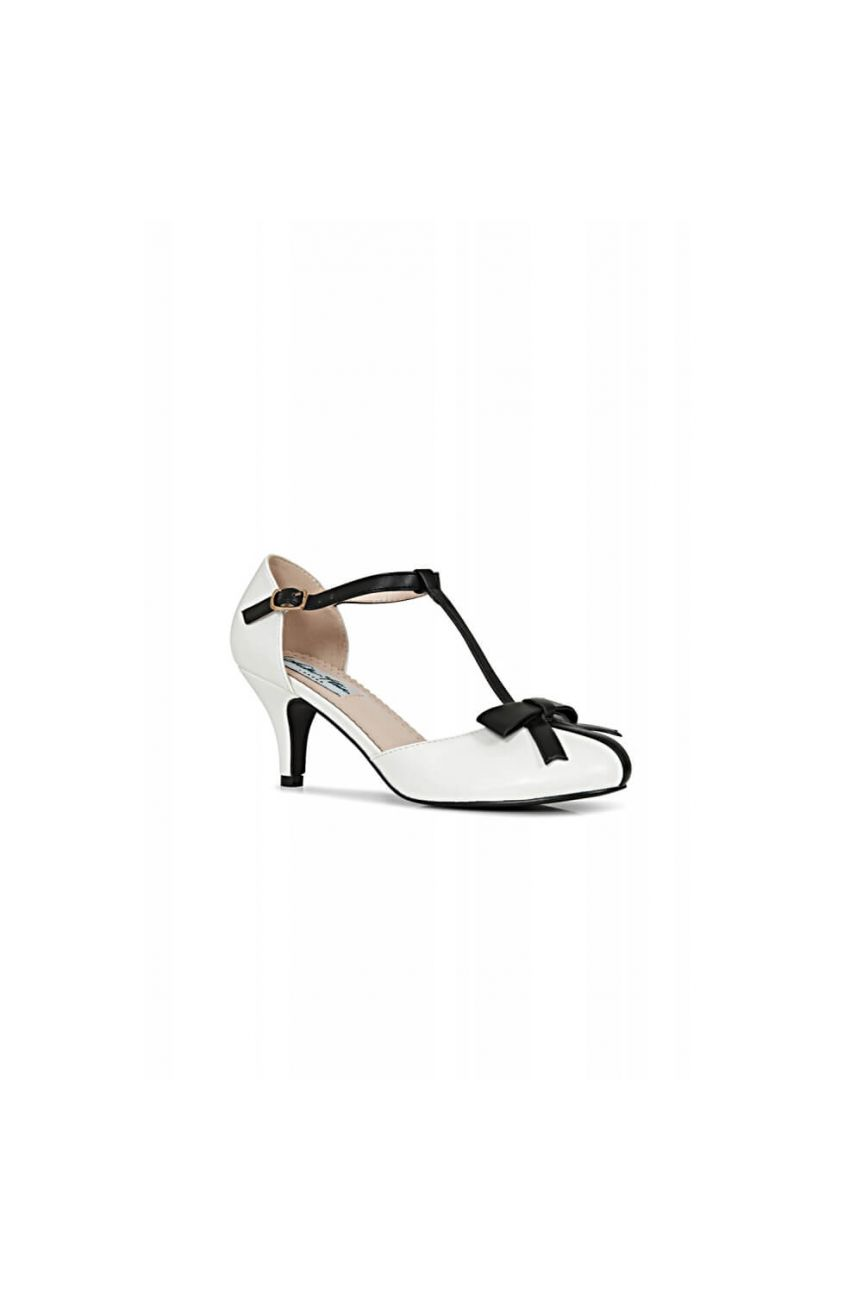 Chaussures rétro pin-up blanches