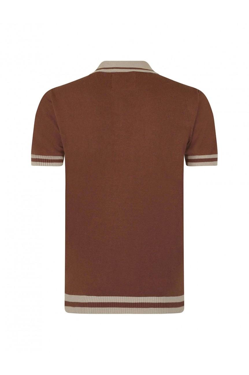 Polo vintage marron
