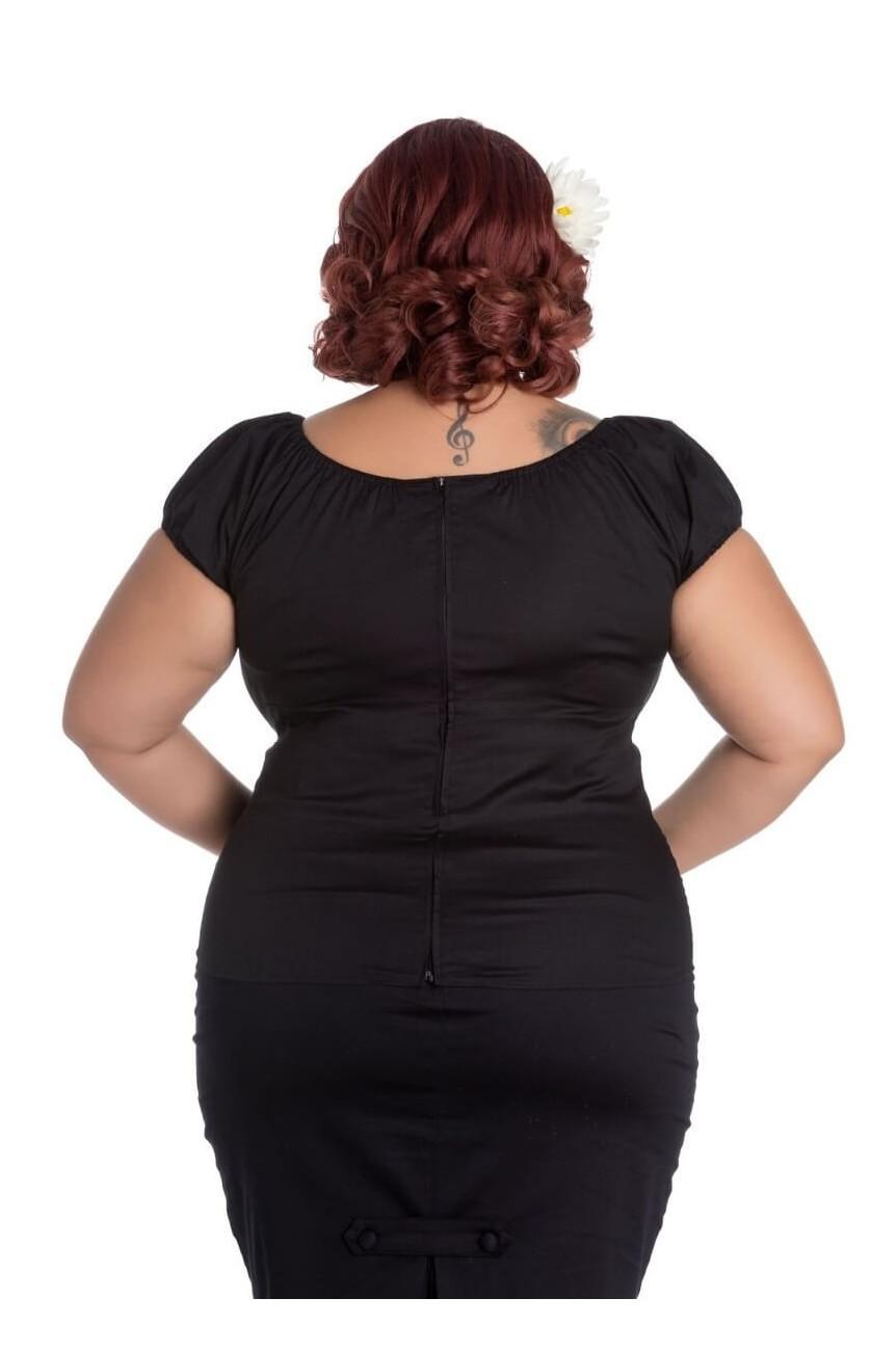Haut pin-up noir grande taille