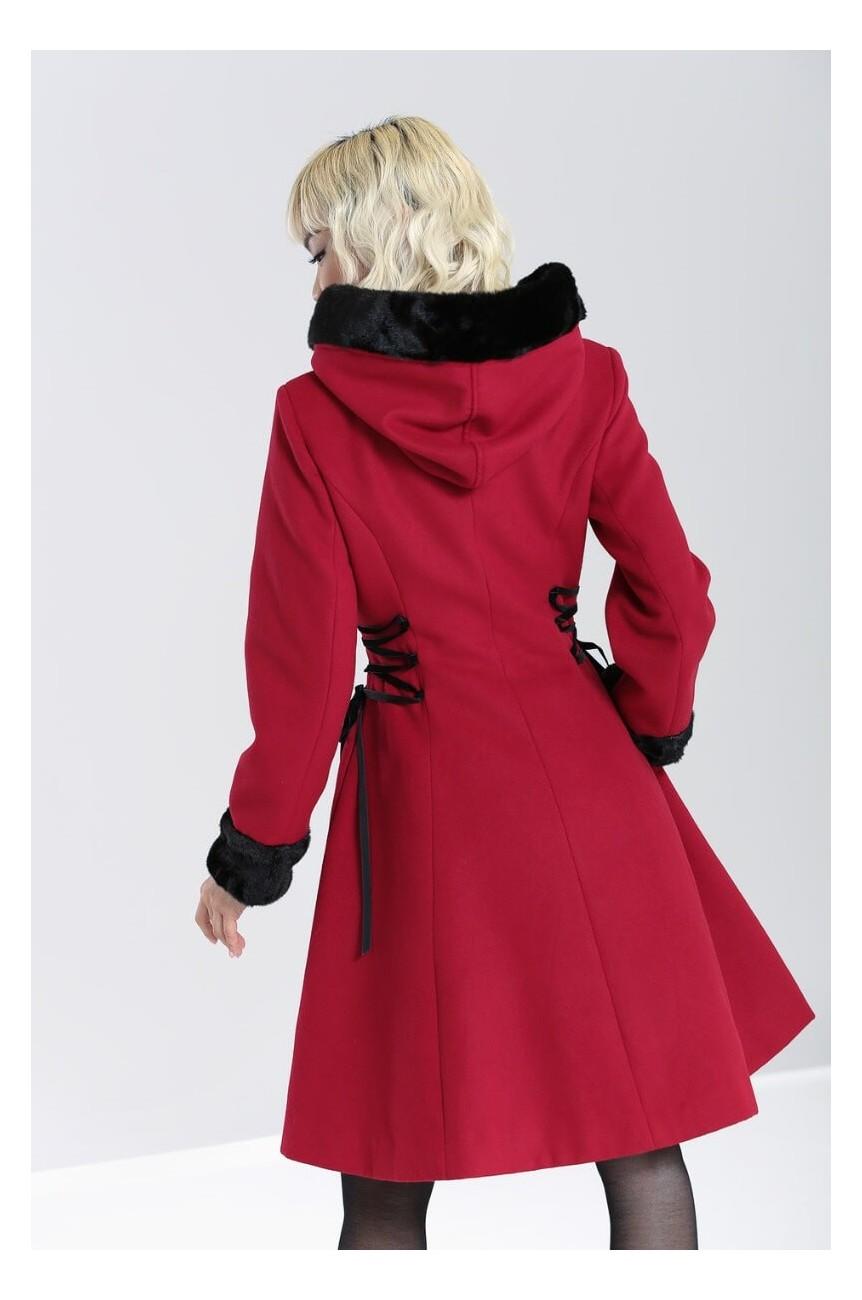 Manteau rouge vintage