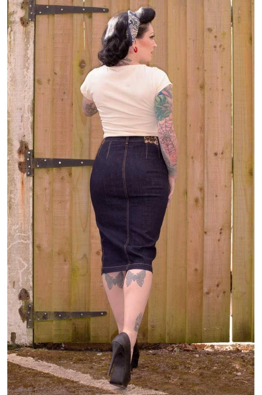 Pencil skirt en jean Rumble59