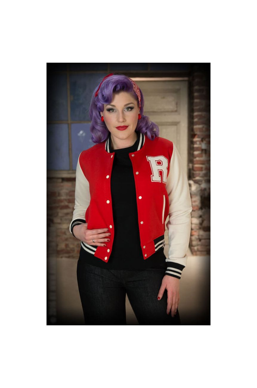Teddy femme rockabilly rouge et blanc