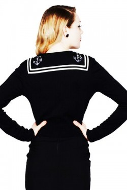 Cardigan marin noir vintage