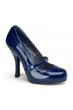 Chaussure pin up couture vernie bleue