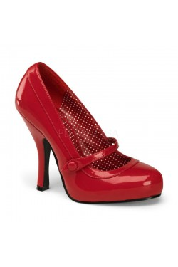 Chaussure pin up couture vernie rouge