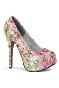 Chaussures bordello a fleurs