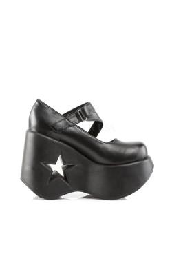 Chaussure compensées babies Demonia talon troué