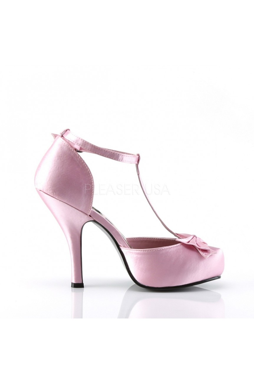 Chaussure rétro pin up couture rose