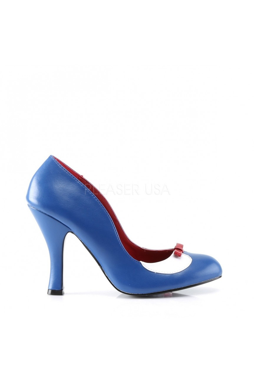 Chaussure pin up smitten 05 bleue