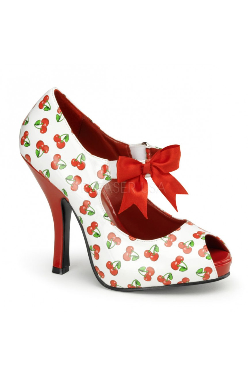 Chaussure pois vinyle pin up cutiepie-07