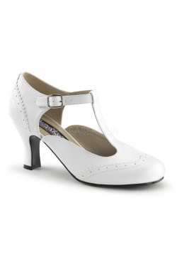 Chaussure vintage blanche flapper-26