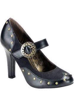 Chaussure steampunk tesla-03 noir