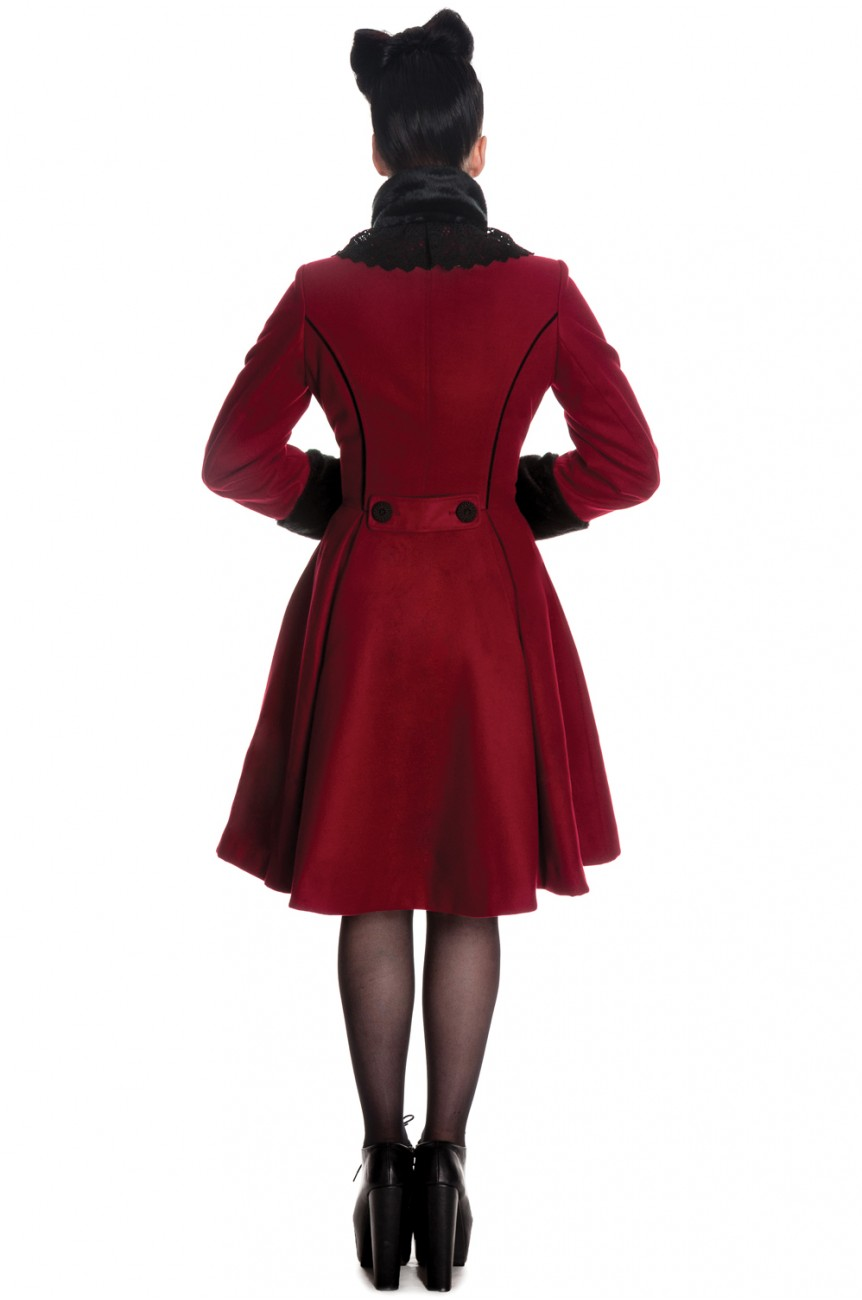 Manteau hell bunny bordeaux
