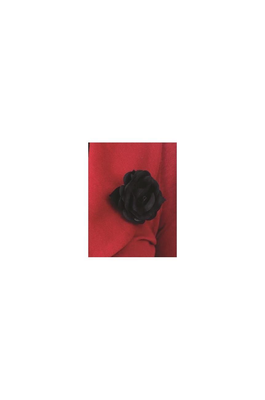 Bolero rouge à fleur