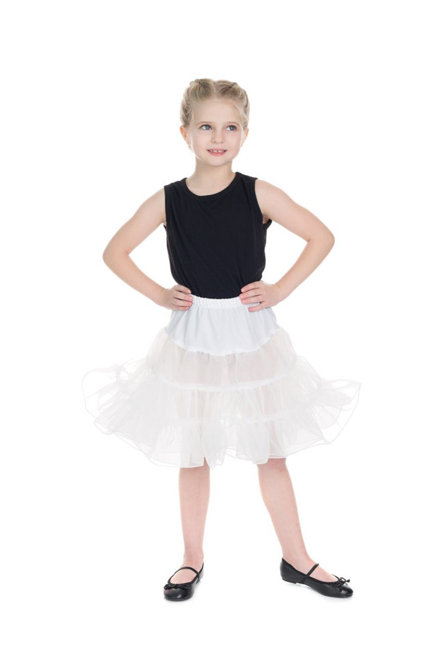 Jupon blanc pin up enfant