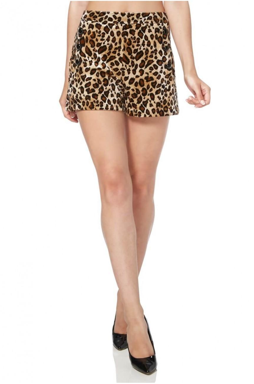 Short vintage léopard