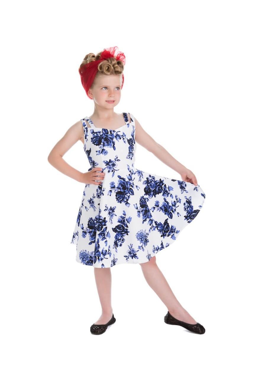 Robe vintage enfant bleue
