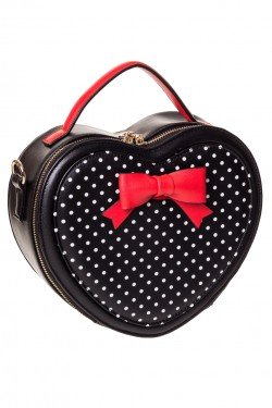 Sac coeur pin up a pois