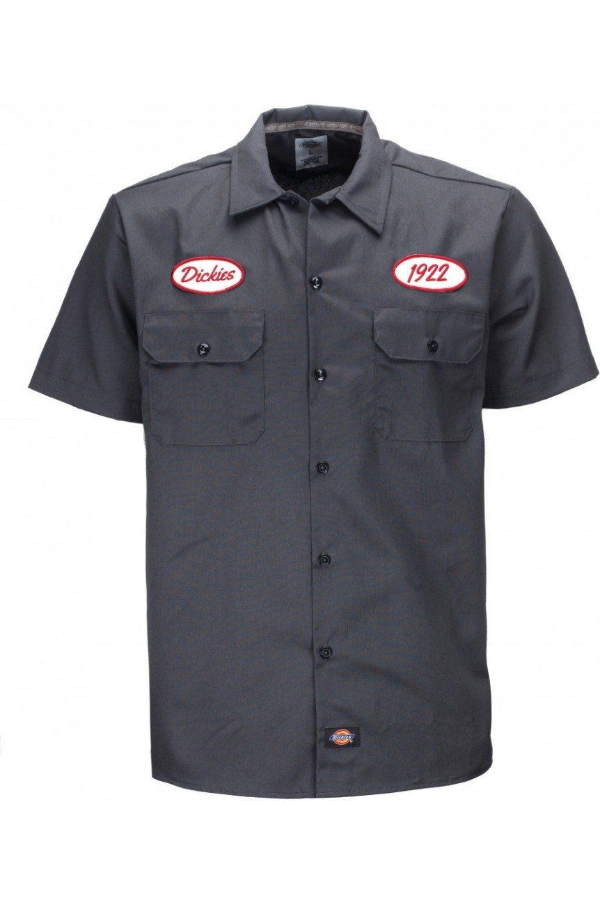 Chemise pompiste dickies grise
