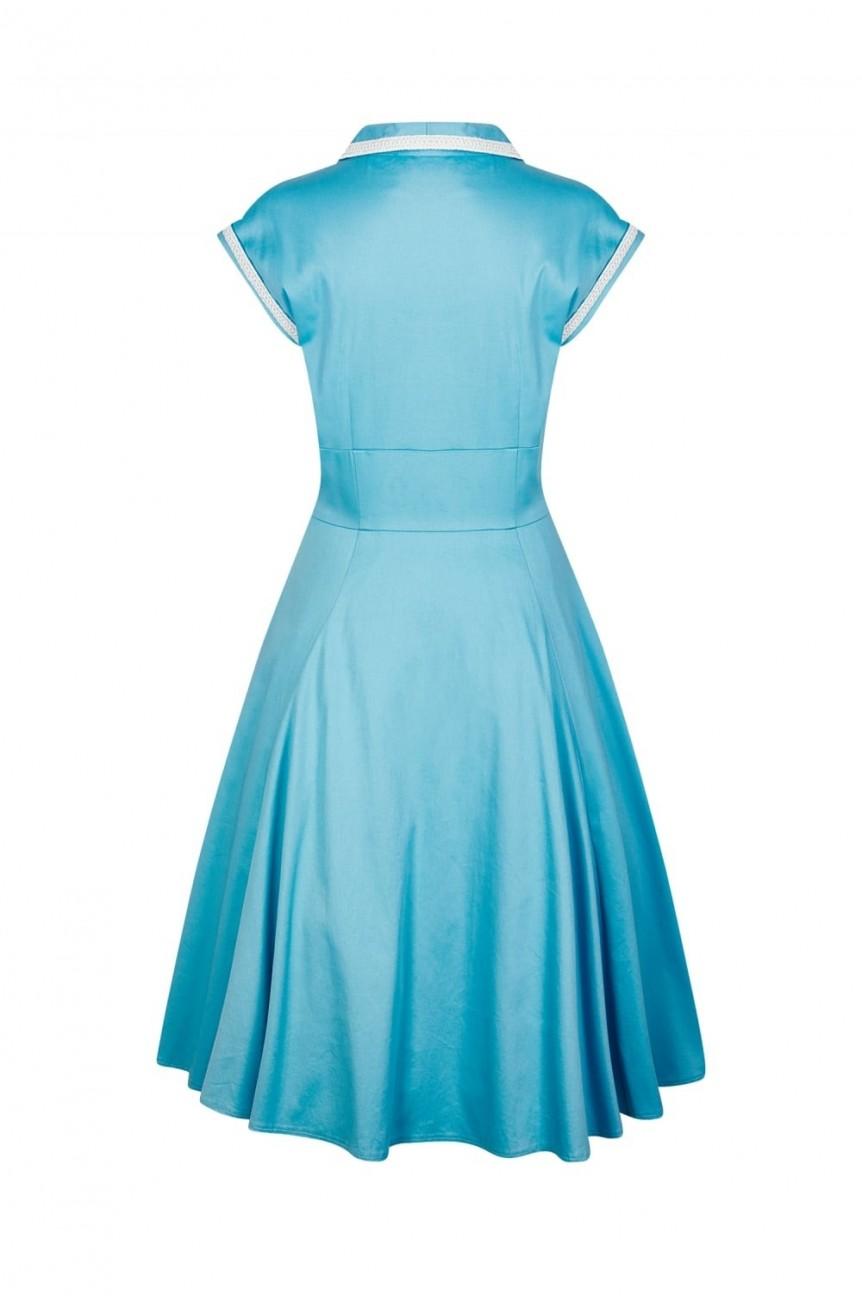 robe fifties bleue